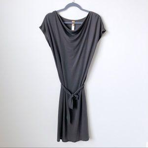 Lucy Activewear Jersey Cowlneck Tie Waist Dress